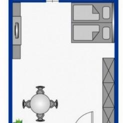 Zentrale 1.Zimmerwohnung
