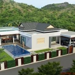 Traumhafte Pool-Villen am Hang mit Blick bis zum Meer in Top Qualität. Auf Wunsch Mietgarantie von 6% über 5 J.