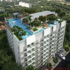 Schicke Apartments auf 8 Stockwerken am Pratumnak Hill in Strandnähe, von 26 bis 74 qm