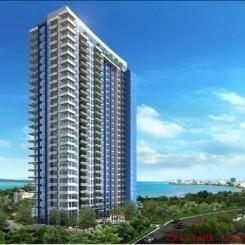 Apartments in großer Grünanlage mit Meeresblick am schönen Strand von Pratumnak Hill, Pattaya