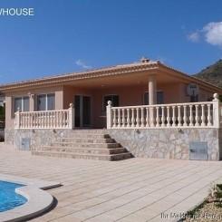 Bei Alicante, Neubau Villa mit einmaligem Panoramablick auf Küste, Meer, Alicante und Berge