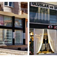 Globales Geschäft mit Vorhängen und Heimtextilien in Türkei