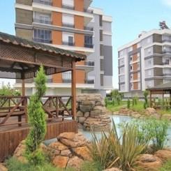 Neubau-Eigentumswohnung (3 Zimmer, 1 Bad) mit Balkon und separater Küche in Antalya-Kepez