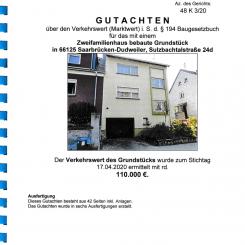 Versteigerung Zweifamilienhaus in 66125 Saarbrücken